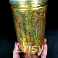 0.2mm Holographic Pigment Gold Glitter Cosmetic Grade SLG003 — Lrisy Glitter Slime, Gold Glitter, Cosmetic Grade Glitter, Hair Decorations, Nail Arts, Eyeshadow Makeup, Resin Art, Holographic, Lip Gloss