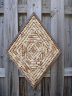DIamond Shaped Wine Cork Cork Board
