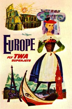 Fantastic A4 Glossy Print - 'TWA - Europe' - Taken From A Rare Vintage Travel Poster (Vintage Travel / Transport Posters) by Unknown http://www.amazon.co.uk/dp/B005V3YGOM/ref=cm_sw_r_pi_dp_NiYovb1P91KGM