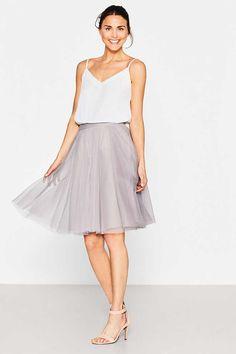 Esprit / Tüllrock in Midilänge, mit leichtem Petticoat