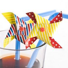 Add some fun to your drink with these colourful windmill straws, all you need is a slight breeze to make your windmill whirl in a mesmerising pattern! Perfect for al fresco drinking, or great to keep Straws, Some Fun, Windmill, Fresco, Breeze, Drinking, Cocktails, Drinks, Cocktail Parties