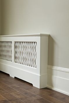 Radiator cover in Farrow & Ball's Wimborne White...love, love this one!!