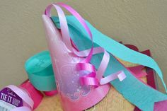 Princess Party Hat with streamers and ribbon