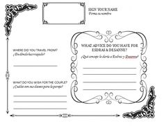 diy wedding guestbook templates | my diy guestbook page posted 6 months ago by kithime in guestbook 10 ...