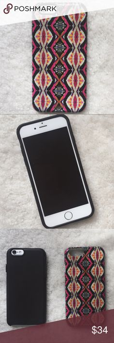 """Urban Outfitters Sonix iPhone 6/6S case Rare + sold out online. offers great protection--case has 2 parts, outer hard shell and inner soft glove. minor wear and scratches. Style is """"Tangier"""" There is a small crack on the side. Sonix carried by Urban Outfitters and Nordstrom. Price is negotiable! Urban Outfitters Accessories Phone Cases"""