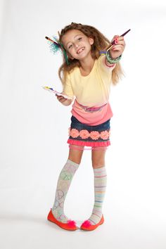 Let her creativity shine - with FashionPlaytes dip-dye & cute denim skirts, of course! {Holiday 2011}