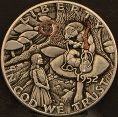 ....SOLD.... Italy Pictures, Hobo Nickel, Coin Art, Coin Collecting, Sculpture Art, Coins, Carving, Ranger, Roman