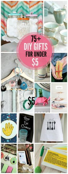 75+ Handmade Gifts for under $5! So many great gift ideas in one place! #DIY…