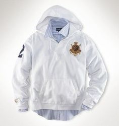 Ralph Lauren Buffalo Hooded Sweatshirt White