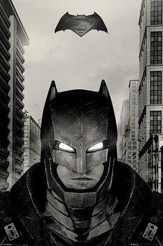 Batman v Superman: Dawn of Justice - Battle Suit Poster Batman Vs Superman Poster, Joker Batman, Superman Movies, Batman Art, Batman The Dark Knight, Batman Kunst, Dc Comics, Superman Dawn Of Justice, Batman Wallpaper