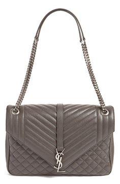Saint Laurent Saint Laurent 'Large Kate - Collège' Quilted Leather Shoulder Bag available at #Nordstrom