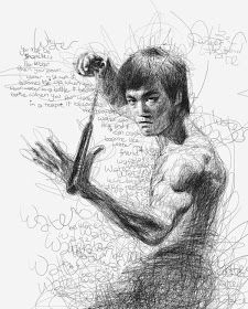 Por el Amor del Art-E: El arte del garabato Arte Bruce Lee, Drawing Sketches, Pencil Drawings, Drawing Ideas, Sketching, Vince Low, Image Zelda, Figurative Kunst, Art Du Monde