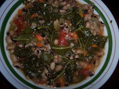 Collard Green and Black Eyed Pea Soup ~pressure cooker alert!