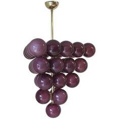 Purple Grapes Modern Murano Chandelier