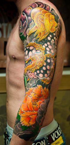 Japanese Dragon Koi Tattoo