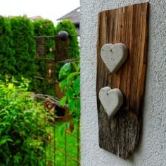 Bastelanleitung für eine Deko mit Herzen aus Beton