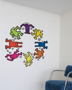 Keith Haring Dancers Wall Decals eclectic decals