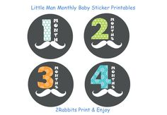 Little Man Mustache Themed Baby Shower DIY by 2RabbitsPrintEnjoy