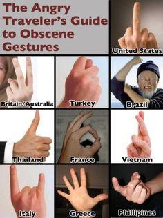 Don't wave hi in Greece.