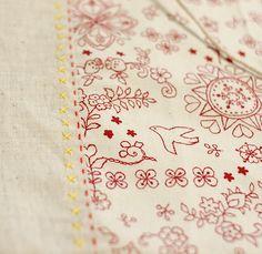 lovely Sashiko embroidery