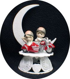 Motorcycle sidecar Wedding Cake Topper Precious by YourCakeTopper