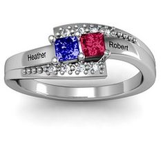 Double Princess Bypass with Accents Ring #jewlr
