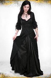 Lip Service Black Brocade Bustle Dress