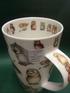 Dunoon Becher Tasse Eule Owl Eulen Henley NEU Kaffeetasse Teetasse in Möbel & Wohnen | eBay
