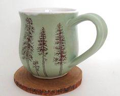 Ceramic Mug  Coffee Mug  Large Mug  Ponderosa Pine by JustMare