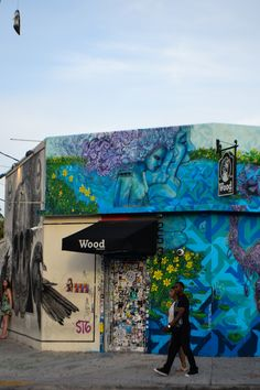 One of the many street murals in Miami