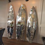 "43 Likes, 3 Comments - Glassd Mirror Mosaic Artwork (@glassdgallery) on Instagram: ""Home by the beach #glassd #surf #surfart #surfboardart #surfboard #interiordesign #beach…"""