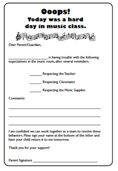 Bad day in music class co parenting classes, parenting articles, parent contact, teaching Middle School Music, Music Lesson Plans, Classroom Rules, Classroom Ideas, General Music Classroom, Classroom Behavior, Music Worksheets, Music Education, Physical Education