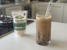 My current favorite low-carb drink is a coffee boba smoothie. I used agar agar to make the flavor infused pearls. It's absolutely delicious! Low Carb Drinks, Low Carb Desserts, Healthy Drinks, Keto Foods, Keto Recipes, Healthy Recipes, Boba Smoothie, Boba Recipe, Boba Pearls