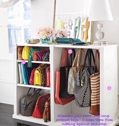 Handbag storage idea
