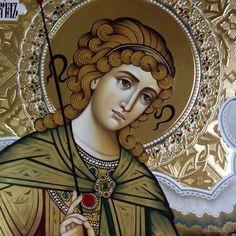 Byzantine Icons, Byzantine Art, Religious Images, Religious Art, Decoupage Printables, Angel Sculpture, Archangel Gabriel, Orthodox Catholic, Roman Catholic