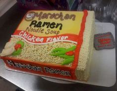 Ramen Noodle Cake!!! We should have done this for Hannah!!!