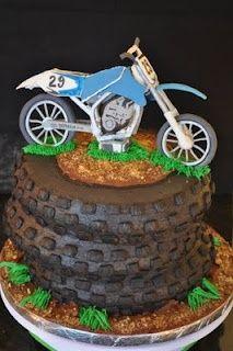 FMX Motocross Dirt Bike Tire Moto Cake  Eat Your Heart Out cakepins.com