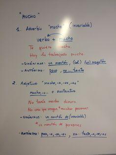 """Adverbio/adjetivo """"mucho""""."""