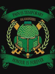 Warhammer 40k Salamanders, Salamanders Space Marines, Warhammer 40k Memes, Warhammer Art, Warhammer 40000, War Hammer, Armor Concept, Nocturne, Coat Of Arms