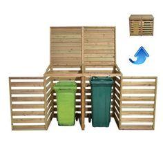 Forest Garden Wooden Double Wheelie Bin Store