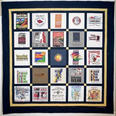 A Classic T-Shirt Quilt is a great way to save those race t-shirts!