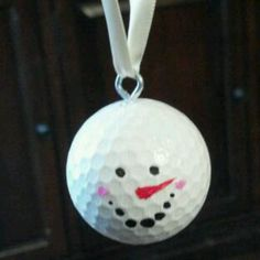 My first golf ball ornament. Took 2 minutes.
