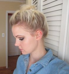 top knot updo for short hair