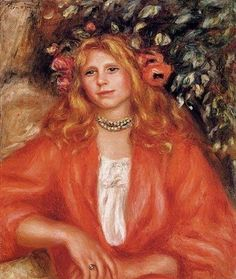 Pierre Auguste Renoir - Young Woman Wearing a Garland of Flowers, 1908