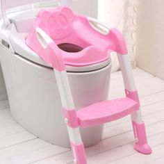 Online Shop Baby Potty Seat With Ladder Children Toilet Seat Cover Kids Toilet Folding infant potty chair Training Portable pinico troninho Baby Potty Seat, Baby Toilet Seat, Kids Potty, Potty Chair, Children's Potty, Toilet Chair, Toilet Seats, Pink Toilet, Toilet Training Seat