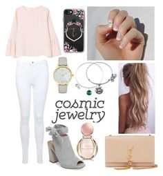What's Your Sign: Cosmic Jewelry (Taurus) by emily5302 on Polyvore featuring polyvore, fashion, style, MANGO, Miss Selfridge, Kristin Cavallari, Yves Saint Laurent, Kate Spade, Alex and Ani, Casetify, Bulgari, SoGloss, clothing and cosmicjewelry