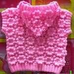 Tığ işi çiçek motifli bebek yeleği modeli ve yapılışı (anlatımlı)