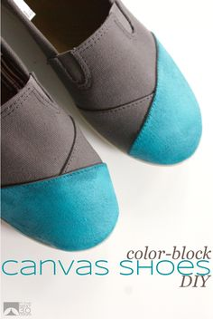 DIY Painted Canvas Shoes | In The Next 30 Days