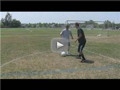 Soccer Skills : Defending Technique - In soccer, a common defensive technique is to use the front foot to lead the attacker in a specific direction. Find out how to stay low to the ground in soccer defense with help from a soccer coach in this free video on soccer defending skills. Expert: Kyle Polak Contact: www.capefearsoccer.com Bio: Kyle Polak has been playing soccer for more than 20 years. Filmmaker: Reel Media