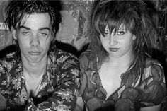 Nick Cave and Lydia Lunch by Wolfgang Wesener - $1200.(whatever you two do...do not look happy)